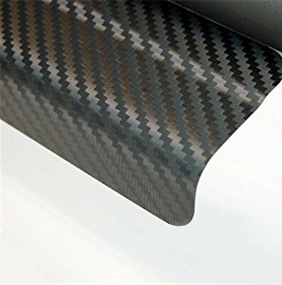 4x Car Door Sill Scuff Welcome Pedal Protect Carbon Fiber Stickers Accessories
