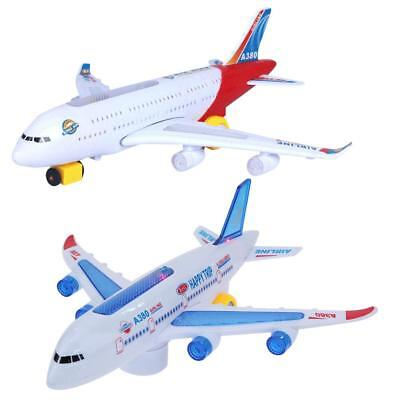 ABS Aircraft Gift Airplane Moving Flashing Electric Lights Sounds Kids DIY Toy