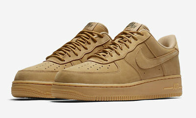 Nike Air Force 1 '07 Wb Flax Wheat Gum Mens Aa4061-200 Retro Og Af1 New Og Suede