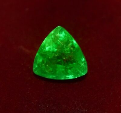 GGL Certified Natural Green Emerald, 5.15 Cts. Trillion Shape Gem