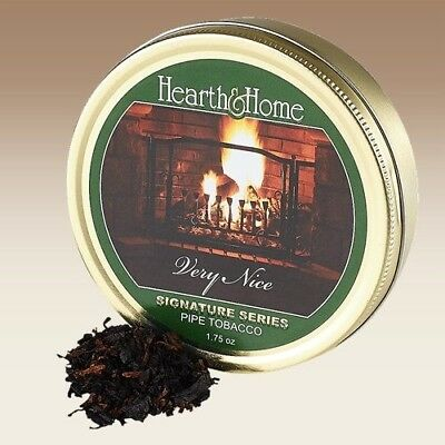 Hearth & Home Very Nice Pipe Tobacco In 1.75 Oz Collectible Sealed Tin