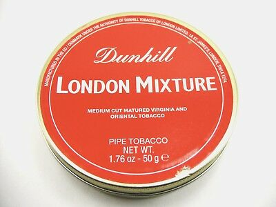 Rare Dunhill London Mixture Pipe Tobacco In 50G Collectible Sealed Tin