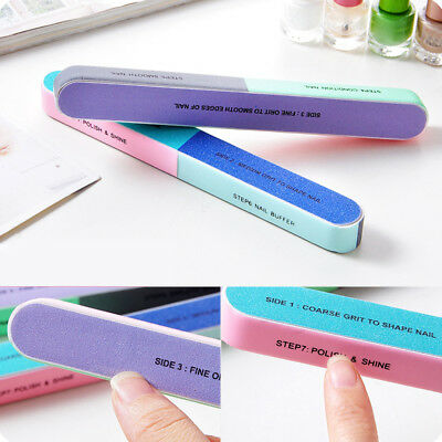 Creative Function Print Nail File Sanding Buffer Finger Polishing Manicure Brim