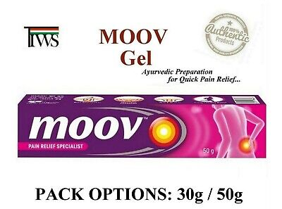 Moov Gel Herbal Ayurvedic Fast Relief Low Back Joint Pains Sprains Strains