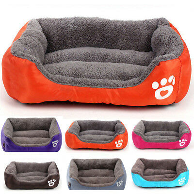 Large Pet Dog Cat Bed Puppy Cushion Soft Warm Kennel Mat Blanket Washable