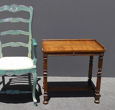 Unique Vintage Heritage French End SIDE HALL TABLE w Slide Out Shelf
