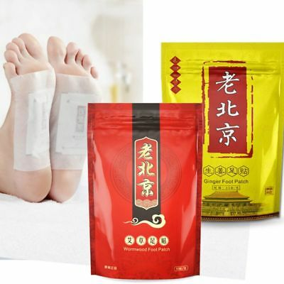 Chinese Herbal Anti-Swelling Ginger Wormwood Foot Pads Detox Health Care Patches