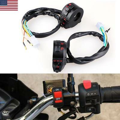 "Motorcycle 7/8"" Handlebar Horn Turn Signal Electrical Start High/Low Beam Switch"