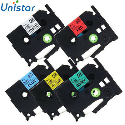 """5PK TZe TZ 121 221 421 621 721 Label Tape Cassette For Brother P-touch 9mm 3/8"""""""