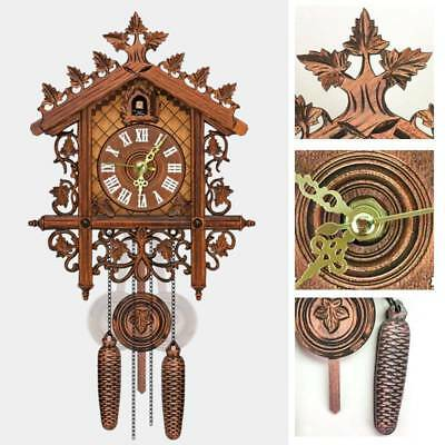 Europea Cuckoo Clock House Wall Antique Clock Modern Art Vintage Wood Home Decor