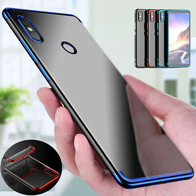 Electroplating Transparent Soft TPU Silicone Clear Case Cover For Xiaomi Redmi