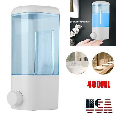 400ml Wall Mount Soap Dispenser Bathroom Shower Shampoo Hand Wash Liquid