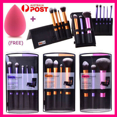 3Set/12pcs Real Techniques Make Up Brushes Cosmetic Starter Kit Core Collection