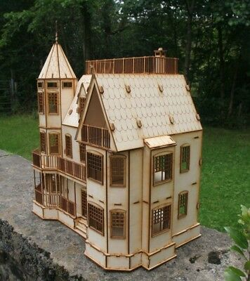 Laser cut ply wood wooden Laurel Town Home Dolls House 3d puzzle / Kit