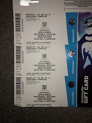 3x Seated Spice Girls Tickets for 24th May 2019 Croke Park