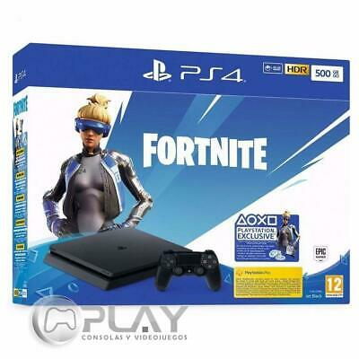 PS4 Slim 500Gb Negra Playstation 4 + Fortnite: Royal Bomber Pack incl.500 PaVos