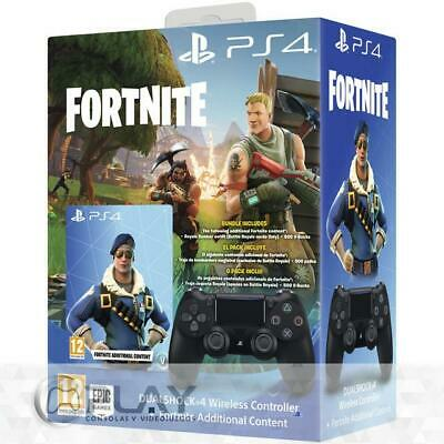 Mando Dualshock Negro V2 PS4 Fortnite: Royal Bomber Pack incl 500 Pavos
