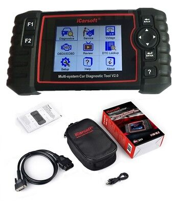 iCarsoft US V2.0 Diagnostic Scanner Tool FORD CHEVY DODGE JEEP CHRYSLER ABS SRS