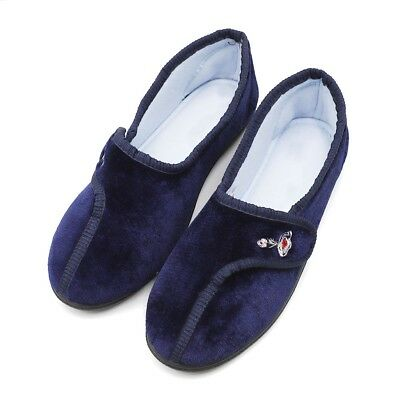 Women's Comfort Embroidery Shoes Adjustable Edma Swollen Feet Slippers Loafers