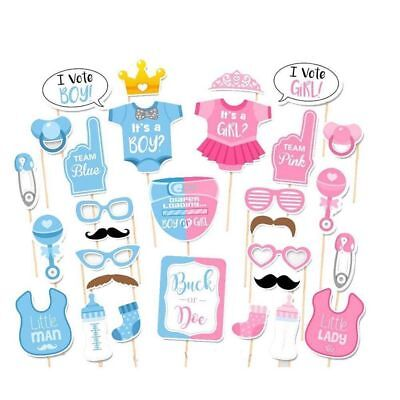 Baby Shower Photo Booth Props Little Boy Girl New Born Party Wedding Decoration