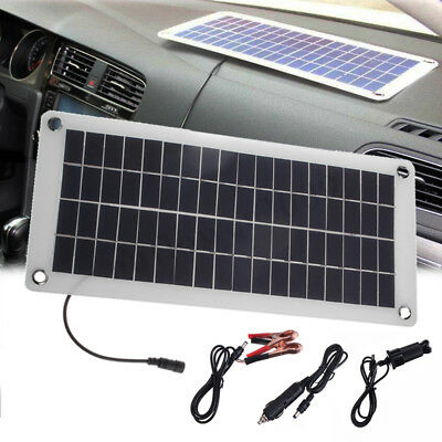 15W 5/12V Semi Flexible Solar Panel Charger For Car Battery Phone RV Outdoor New