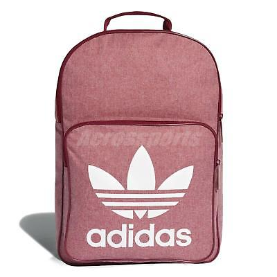 10a72322b7 adidas Originals Trefoil Casual Backpack Sport Training Workout Bag Red  D98924