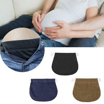 Adjustable Elastic Cotton Belt Buckle Lengthen  Button for Pregnant Women T