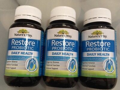 Nature S Way Restore Daily Probiotic 90 Capsules 23 74 Picclick Au