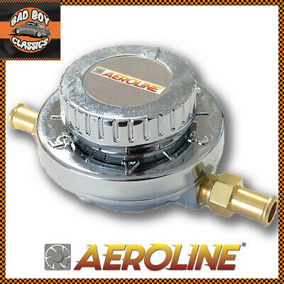 Aeroline Variable Petrol Fuel Pressure Regulator Inline 1-5 Psi 8mm / 5/16""
