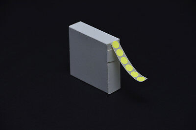 1000 Radiant Yellow Stickers 12Mm Dia. Coloured Sticky Labels Self Adhesive Dots