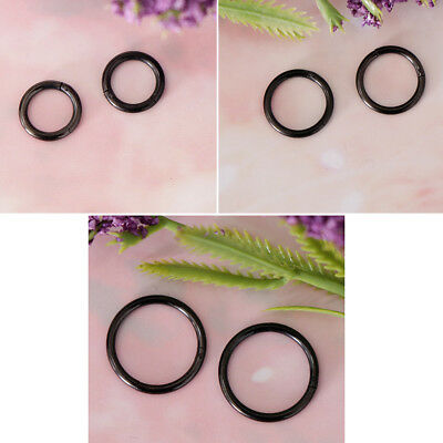 2Pcs 16G Hinged Black Septum Nose Ring Segment Ear Lip Labret Seamless Hoop