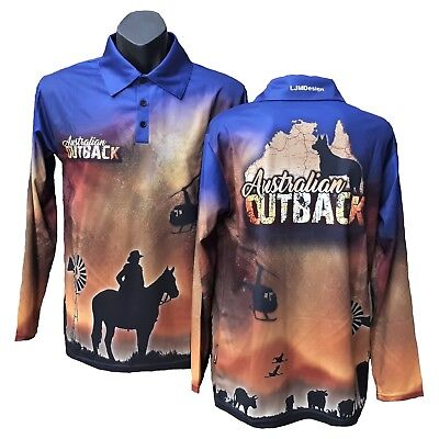 Australian Outback Fishing Shirt Country Western Mustering