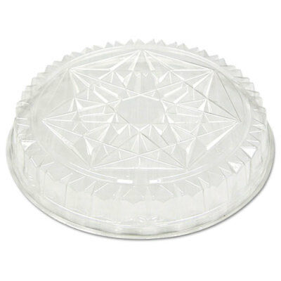 Round CaterWare Dome-Style Food Container Lids, 1-Comp, Clear, 12dia, 50/Carton