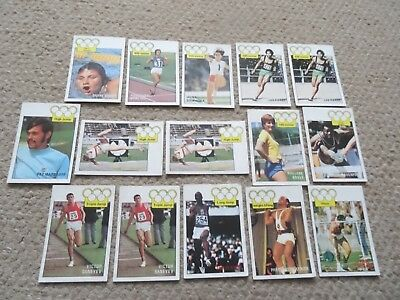 15 A & Bc Gum Cards, Olympics Issued 1972 Near Mint Condition