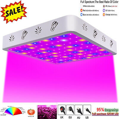 New 600W LED Grow Light Full Spectrum Interior Hydro Veg Flower Panel de cultivo