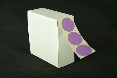 1000 Purple Stickers 25Mm Dia. Coloured Round  Self Adhesive Labels Sticky Dots