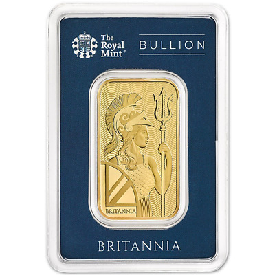 1 Troy oz U.K. Royal Mint Britannia Gold Bar .9999 Fine in Assay