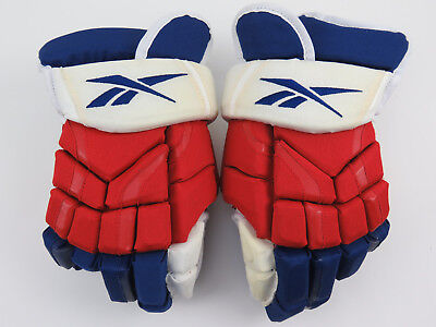Reebok New York Rangers NHL Pro Stock Return Ice Hockey Player Gloves 14