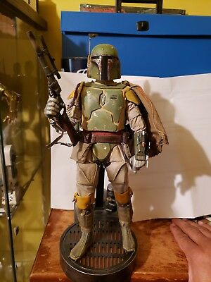 Sideshow Boba Fett 1/6 Figure With Deluxe Light Up Base