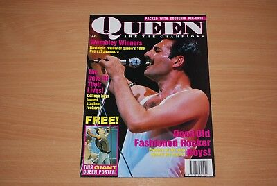 RARE QUEEN 'WE ARE THE CHAMPIONS' 1992 MAGAZINE, POSTER STILL ATTACHED freddie