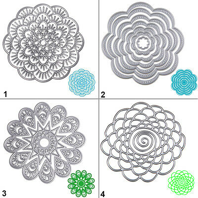 Round Flower Lace Cutting Dies Stencil DIY Scrapbooking Album Card Embossing