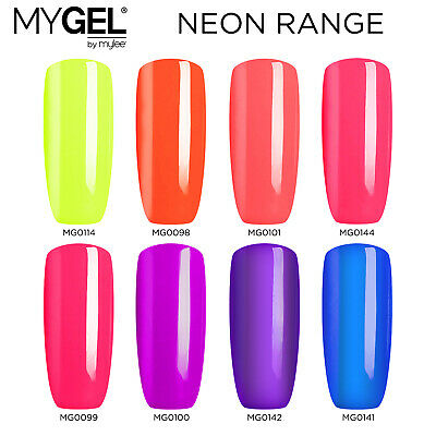 Mylee MYGEL Neon Collection UV LED Soak-Off Gel Nail Polish Colour Manicure 10ml