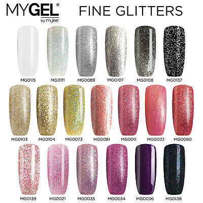 Mylee MYGEL UV LED Soak-Off Fine Glitter Gel Nail Polish Colour Manicure 10ml