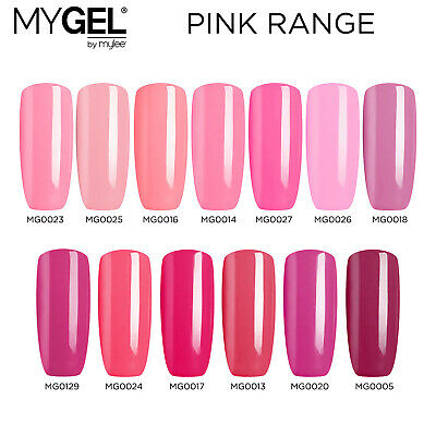 Mylee MYGEL Pink Collection UV LED Soak-Off Gel Nail Polish Colour Manicure 10ml