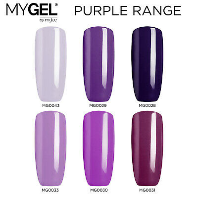 Mylee MYGEL Purple Range UV LED Soak-Off Gel Nail Polish Colour Manicure 10ml