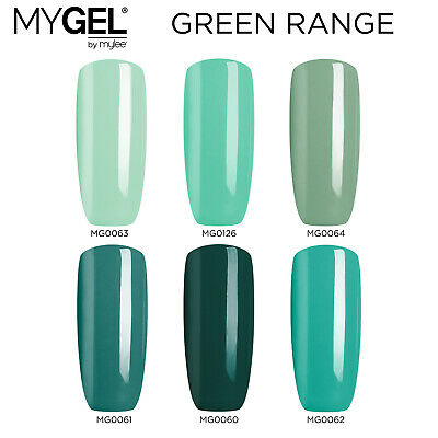 Mylee MYGEL Green Collection UV LED SoakOff Gel Nail Polish Colour Manicure 10ml