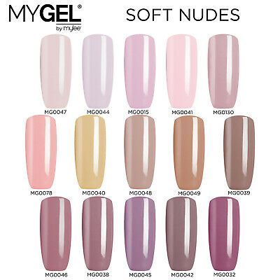 Mylee MYGEL Nude Collection UV LED Soak-Off Gel Nail Polish Colour Manicure 10ml