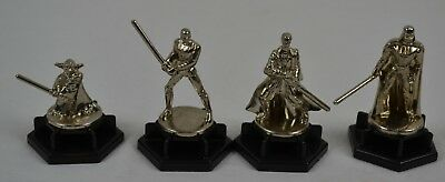 4 Star Wars Trivial Pursuit Metal Movers Game Parts Crafting Replacements Spares