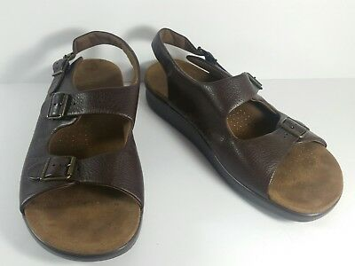 fa9c4ac8aba6 SAS Bravo Sandals Men s Size 14 M Tripad Comfort Brown Leather Made In USA