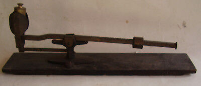 """Antique Brass Beam Scale, Unique Style / Design, 13"""" Long, Nice Patina, No Res"""